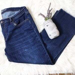 Old Navy Jeans - Old Navy Cropped Flare Mid Rise Frayed Hem Jean